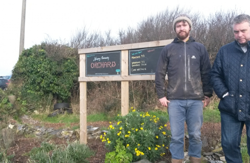 Steve Double MP at Newquay Community Orchard