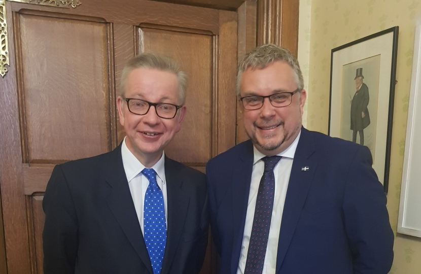 Steve Double MP and Michael Gove MP