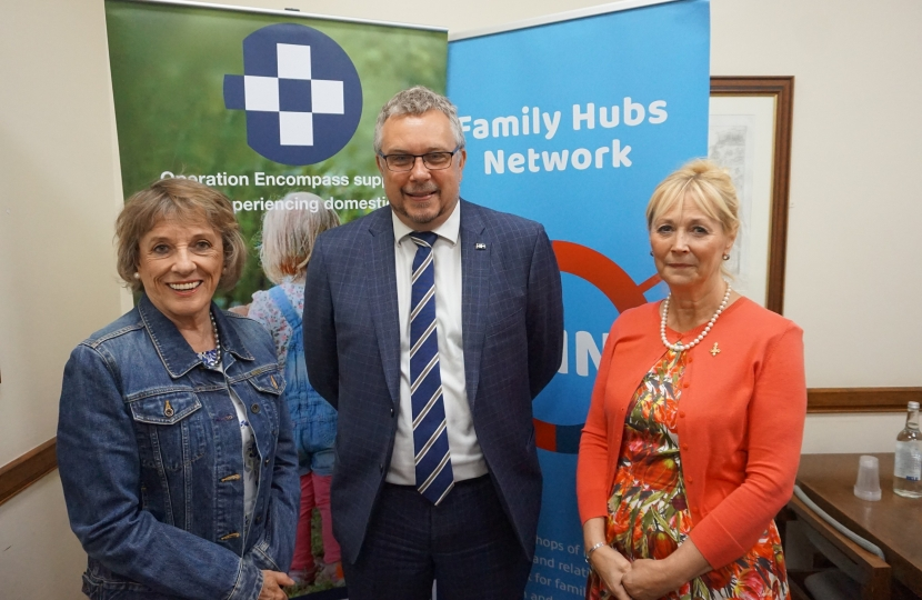 Steve Double MP with Dame Esther Rantzen and David and Elisabeth Carney-Haworth